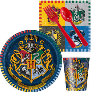 HARRY POTTER Birthday Party Kit for 8 guests Plates Napkins Cups Tablecloth +