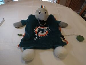 Forever Miami Dolphins Plush Backpack Rare Book Bag Dolphin Football