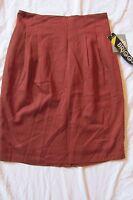 Women's Briggs York Skirt Size 8 Below The Knee - Lined - Solid Brown