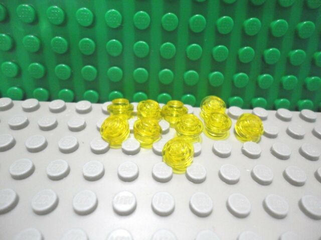 Lego 10 Yellow 1x1 round circle dot plate base NEW