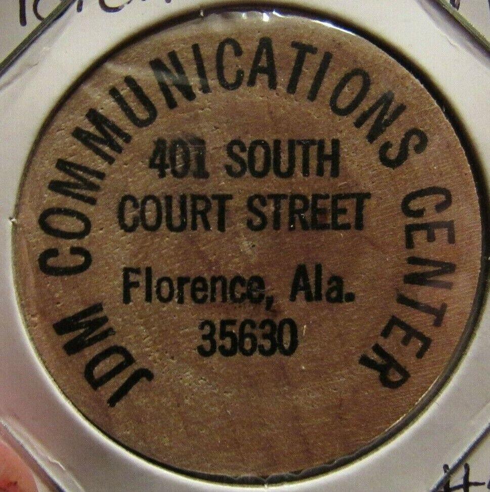 Token Alabama #2 Vintage Bee Line Lanes Hartselle AL Wooden Nickel