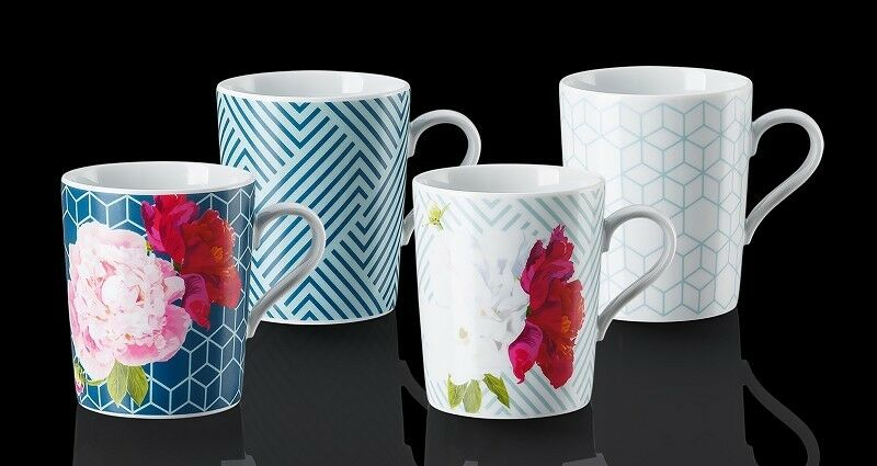 Arzberg Tric Vivid Bloom Tric Vivid Bloom Mixed Tasse Avec Henkel Set 4tlg