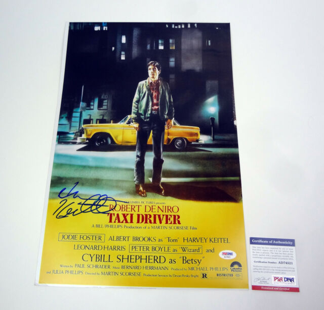 Harvey Keitel Signed Autograph Taxi Driver Movie Poster PSA/DNA COA