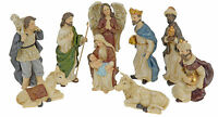 9 Piece Traditional Resin Small Christmas Nativity Figurine Display Set