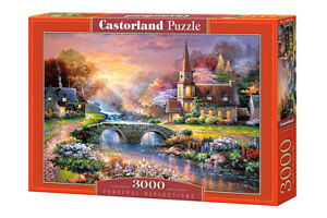 "Brand New Castorland Puzzle 3000 PEACEFUL REFLECTIONS 36"" x 27"" C-300419"