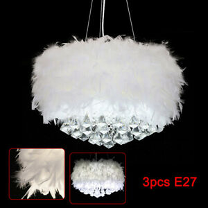 LED Federn Deckenlampe Pendelleuchte Schirm Lampe Moderne Lichter