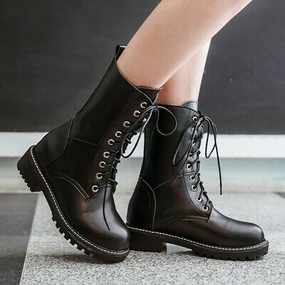Womens Girls Ankle Boots Combat