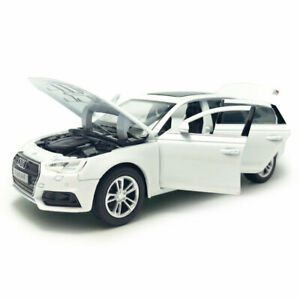 Audi-A4-1-32-Model-Car-Diecast-Toy-Vehicle-Kids-Collection-Sound-Light-White
