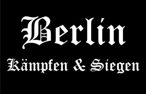 Ricamate Berlino combattere /& vittorie aufbügler Patch 9 x 6 cm