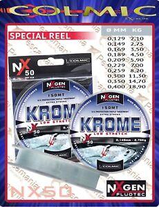 Monofilo-mulinello-Colmic-NXgen-NX50-Krome-mt-150-pesca-in-mare