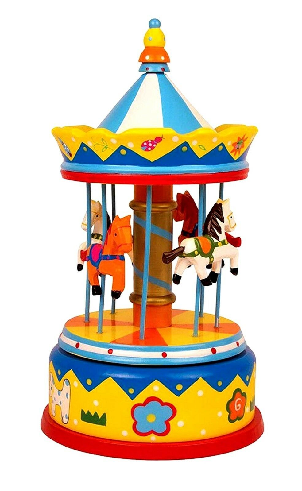 Music Box Horse Carousel Toy Musical Boxes Kids Music Box Horses 28 cms