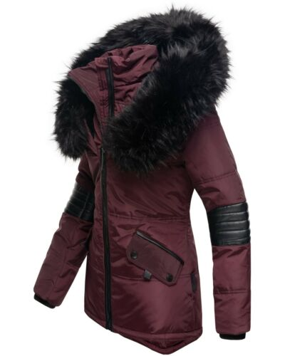 Navahoo Nirvana Damen Jacke Parka Trend Winter Jacke XXL Fellkragen Kapuze Warm