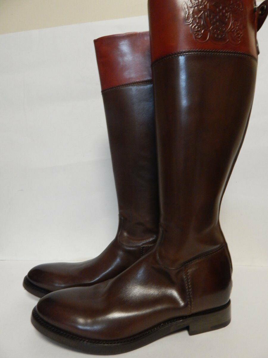 Alberto Fasciani Ingrid 2100 Riding Boot 38 Lux Bordeaux New with Box