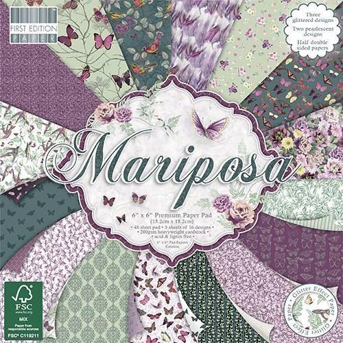 Premium Craft Cardstock First Edition 6x6 Designer Paper Pad Mariposa