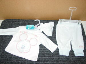 3 Disney Baby Outfits to choose From New with Tags 0-3 months Blues 100/% Cotton
