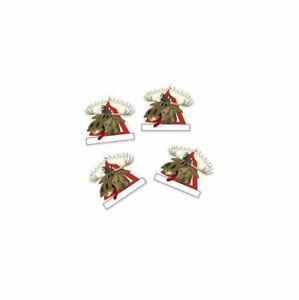 Mini-Turschild-Apres-Ski-4-Stk-aus-Papier-zum-beschriften-Elch-Weihnachten-NEU