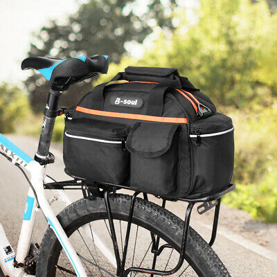 Cycling Bike Travel Bicycle Rear Rack Seat Bag Pannier Shoulder Trunk Pouch M2A9