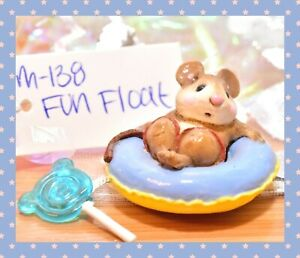 ❤️Wee Forest Folk M-138 Fun Float Mouse Blue Yellow Swimming Tube Retired WFF❤️
