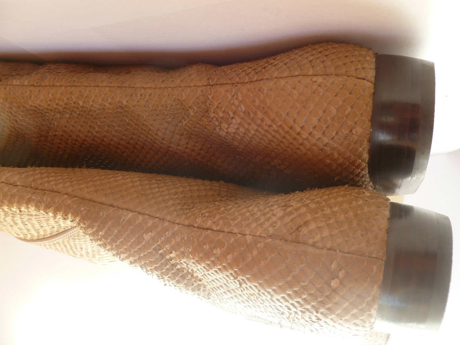 KELSI DAGGER CHARMER BROWN SNAKE SKIN Stiefel TEXTUROT LEATHER OVER KNEE Stiefel SKIN 6 61/2 1a9479