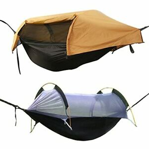 OHMU Camping Hammock with Mosquito Net and Rainfly Cover Portable Hammock Tent