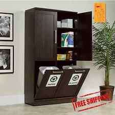 Tall Kitchen Cabinets Food Linen Storage Pantry Office Furniture Shelves Laundry