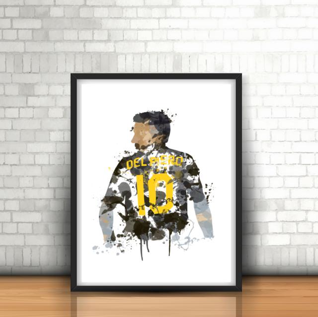 b83c467d19f Alessandro Del Piero -Juventus Inspired Football Art Print Design Juve  Number 10