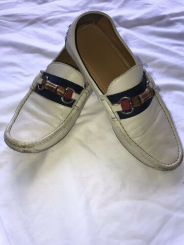 Gucci Italy Made Mens UK 8.5 US 9.5 White Leather