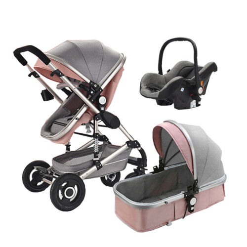 High end Baby Stroller 3 in 1 High Landscape Pram foldable pushchair /& Car Seat