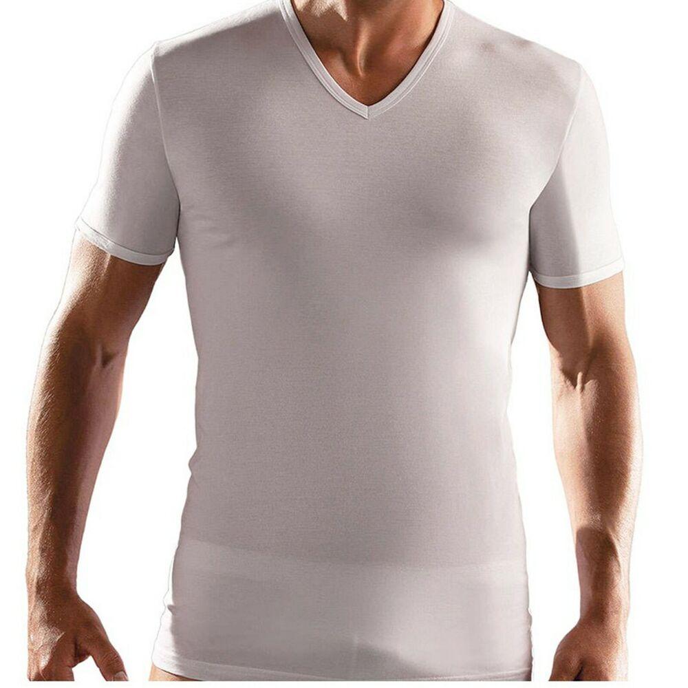 Adaptable 6 Magliette Sergio Tacchini In Cotone Elasticizzato Con Collo V Art. Tv550 Vous Garder En Forme Tout Le Temps