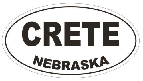 Crete Nebraska Oval Bumper Sticker or Helmet Sticker D5019 Oval