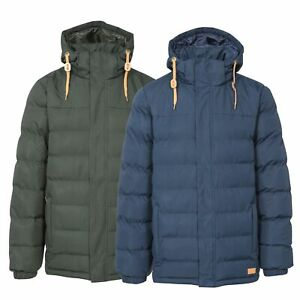 Trespass-Westmorland-Men-039-s-Insulated-Padded-Jacket-in-Green-amp-Navy