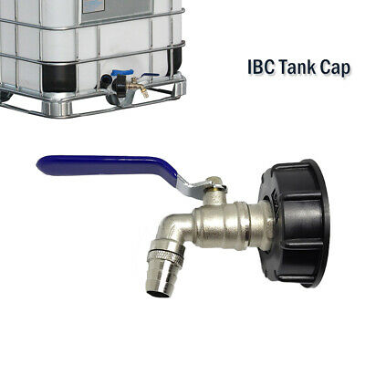 """UK S60X6 IBC Water Tank Cap 1//2/"""" 3//4/"""" Snap On connector//Adapter Twin tap Outlets"""