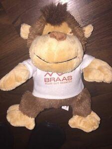 Baby Plüschtier Kuscheltier Schlenker Hund Bär Teddy Affe Braas Dach Shirt Braun Weiß Plüschtiere & -figuren
