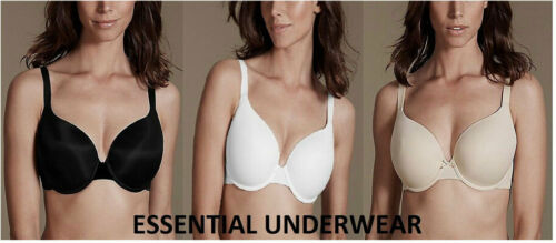 CUP Support T-Shirt Bra Fully Padded UNDERWIRED 32 34 36 38 40 B C D DD