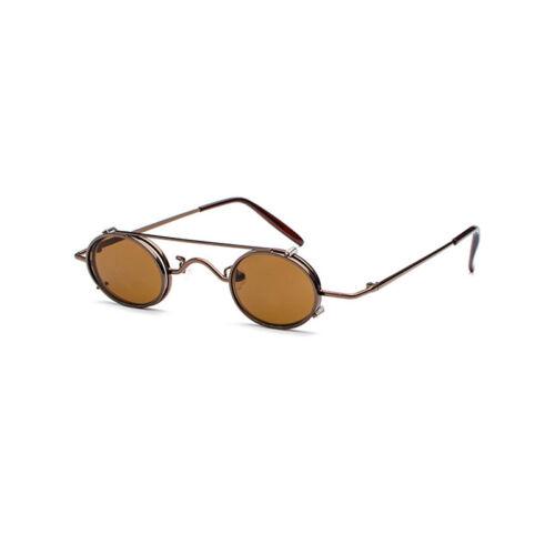 Fashion  Retro Vintage Steampunk  Sunglasses Hippie Retro Round Mirrored Glasses