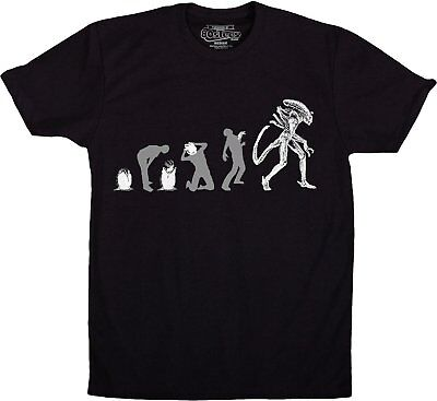 Alien Movies Evolution Of The Alien From Egg To Adult T-shirt New Unworn