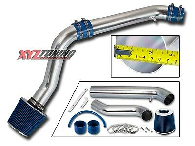 "2.75"" BLUE Cold Air Intake + Filter For Honda 92-95 Civic/93-97 Del Sol"