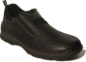 Details zu RIEKER Schuhe Halbschuhe Slipper schwarz echt Leder EXTRA WEIT NEU