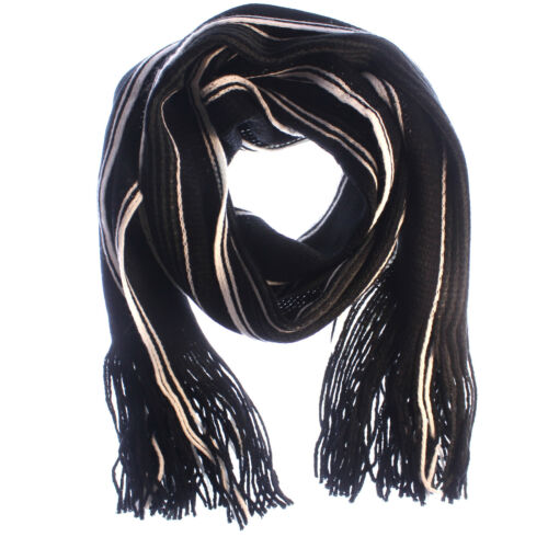 Mens Boys Winter Warm Classic Cashmere Shawl Long Fringe Striped Tassel Scarf UK