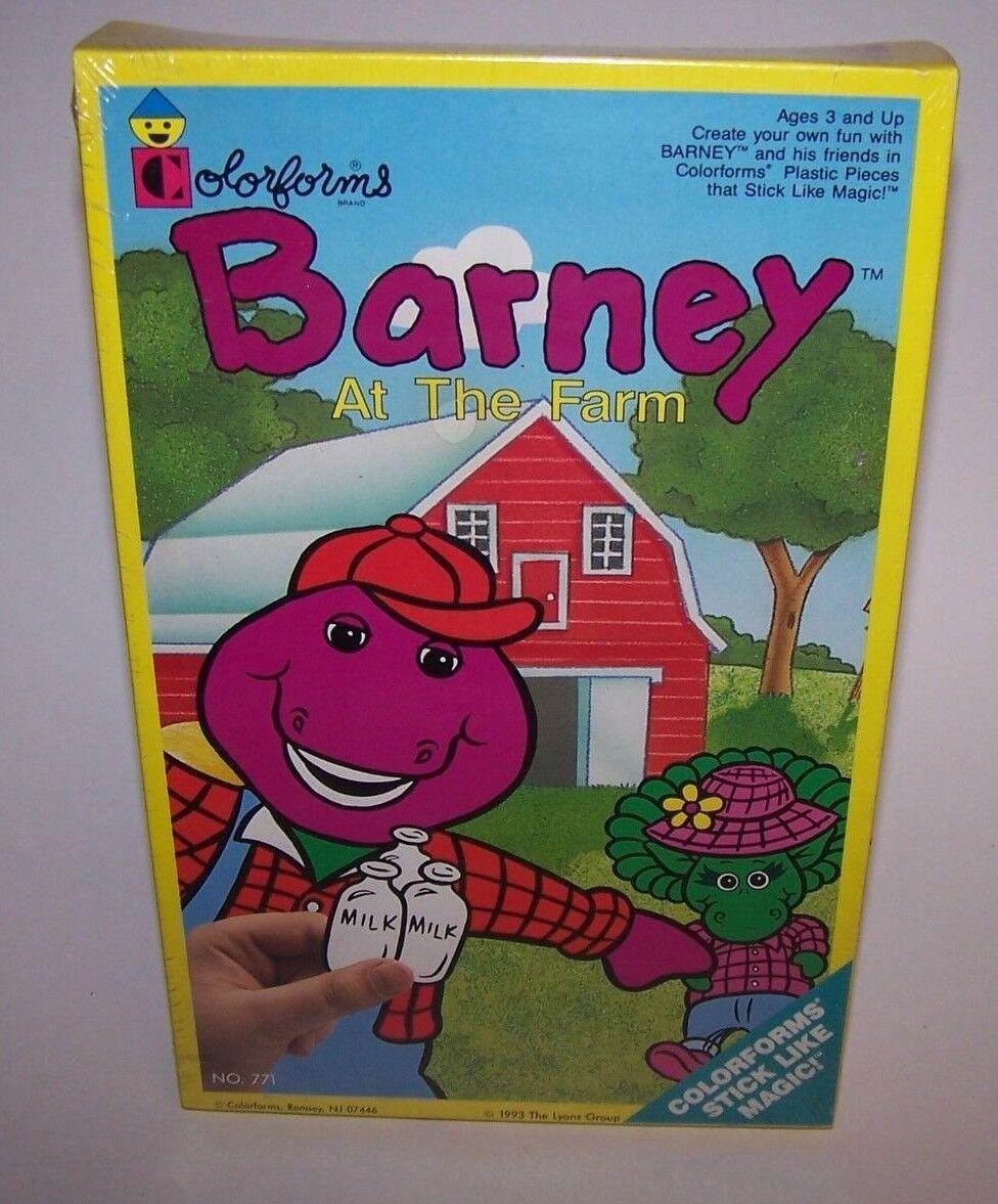 Barney auf der farm Farbeforms 1993 versiegelt nib sammlerstück hochgradige