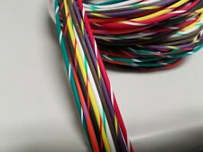 10 FEET EACH COLOR = 20FT WIRE BLACK AND RED 18 GAUGE GXL AUTOMOTIVE HIGH TEMP