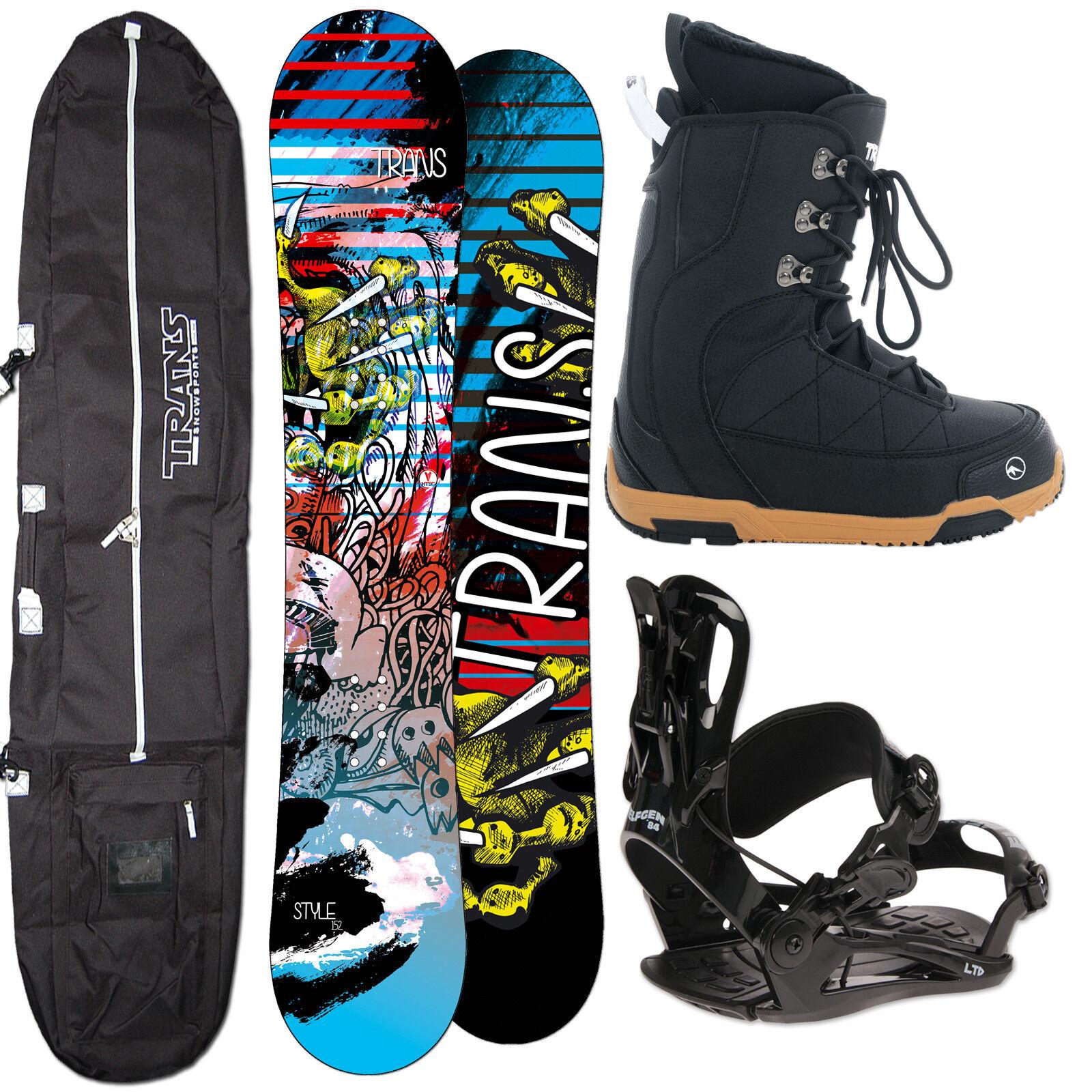 Men's Snowboard Trans Style 146 cm + Fastec Binding SIZE M + Boots+ Bag
