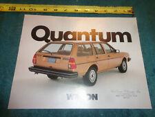 1982 Volkswagen Quantum Wagon Sales Brochure Original Vw Dealership Flyer