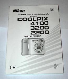 nikon coolpix 4100 3200 2200 instruction manual ebay rh ebay com