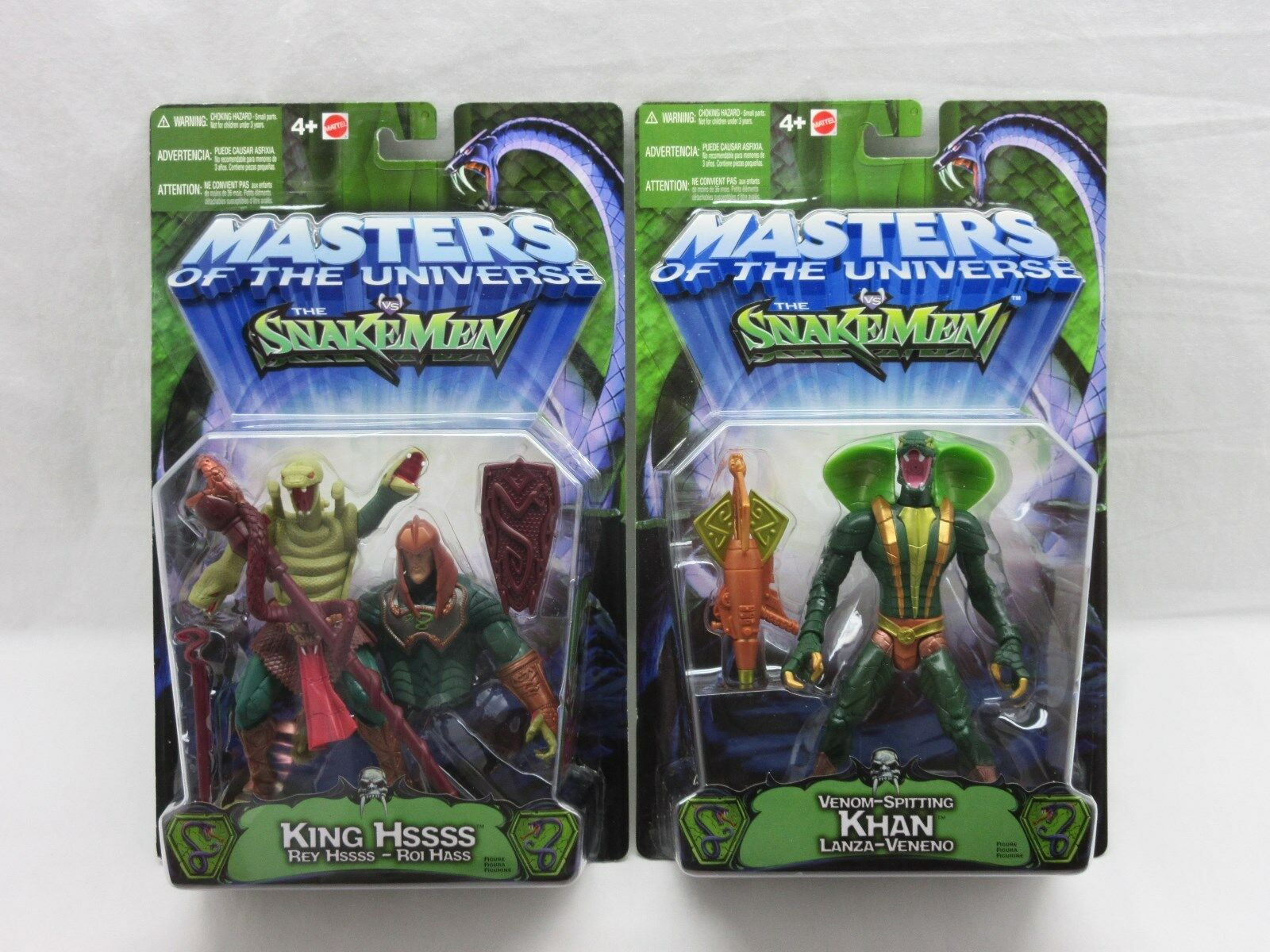 MOTU,200X,KOBRA KHAN & KING HSSSS,Masters of the Universe,MOC,Sealed,He Man