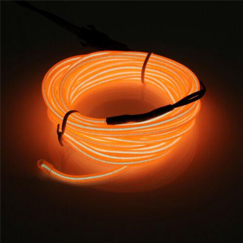 USB LED EL Wire Tube Neon Flexible Strip Glow Car Xmas Party Bar Decor Light NEW