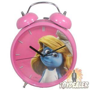 Die-Schluempfe-Schlumpfine-Pink-Rosa-Smurfs-Alarm-Uhr-Wecker-Clock-Schtroumpfs
