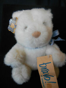 "APPLAUSE BRAVO SUGAR BABY #13703 Plush White Bear Vintage but NEW 6"" 1988  NWT"
