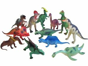 Lot (12) NEW Dinosaur Assorted Figures Jurassic Park Play Prehistoric Toy Set