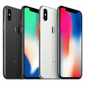 Apple iPhone X - 64GB 256GB Factory Unlocked, AT&T, T-Mobile, Verizon + More